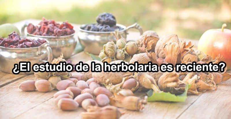 ¿El estudio de la herbolaria es reciente?