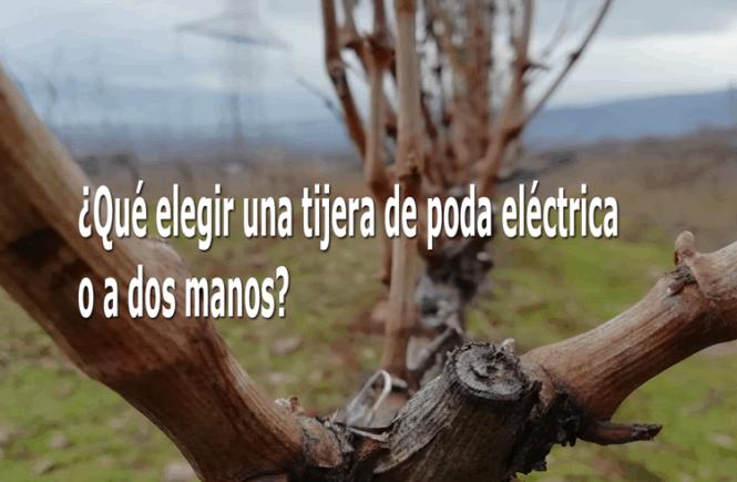 Elegir una tijera de poda electrica